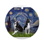 Starry Night & Bos Ter Ornament (Round)