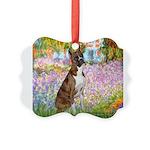TILE-Garden-Boxer5-Brindle.png Picture Ornament