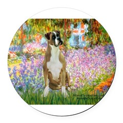 5.5x7.5-Garden-M-Boxer2nat.png Round Car Magnet