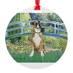 TILE-Bridge1-Boxer2nat.png Round Ornament