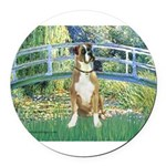 TILE-Bridge1-Boxer2nat.png Round Car Magnet