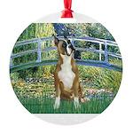 TILE-Bridge-Boxer1up.png Round Ornament