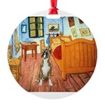 TILE-Room-Boxer1-crpd.png Round Ornament