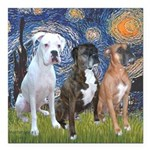 MP-Starry - 3 Boxers - Ver2.png Square Car Magnet