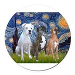 MP-Starry - 3 Boxers - Ver2.png Round Car Magnet