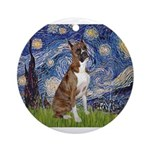 MP-Starry-Boxer5-Brindle copy.png Ornament (Round)