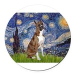 MP-Starry-Boxer5-Brindle copy.png Round Car Magnet