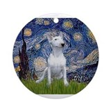 Bull terrier Round Ornaments