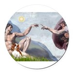 CREATION-Cav2B.png Round Car Magnet