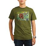 3-MP-IRISES-Cav-Ruby7.png Organic Men's T-Shirt (d