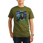 TILE-Lilies5-Cav-Blk-Tan.png Organic Men's T-Shirt