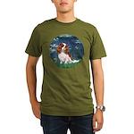 ORN-LILIES 5-CAV2B.png Organic Men's T-Shirt (dark