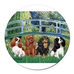 MP-BRIDGE-Cavalier QUAD.png Round Car Magnet