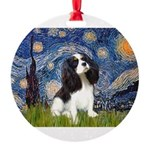 STARRY-Cavalier-TRI 5-REV.png Round Ornament