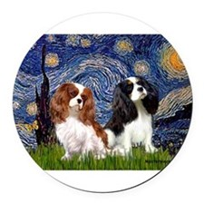 MP-STARRY-CavPAIR2and5.png Round Car Magnet
