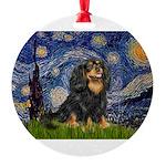 PILLOW-StarryCav-Blk-Tan.png Round Ornament