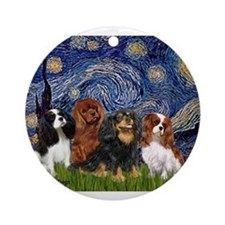 Starry-CavalierQUAD.png Ornament (Round)