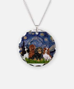 Starry-CavalierQUAD.png Necklace Circle Charm