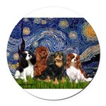 Starry-CavalierQUAD.png Round Car Magnet