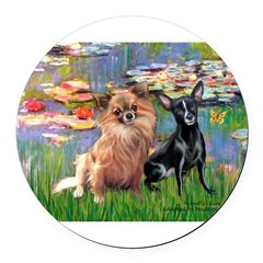 MP-LILIES2-Chi 6 and 7.png Round Car Magnet