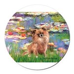MP--Lilies2-Chih-LH1.png Round Car Magnet