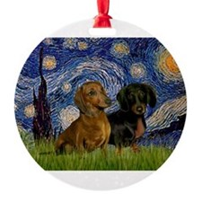5.5x7.5-StarryNight-DachsPR-1.png Ornament