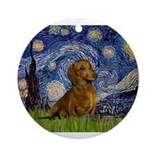 MP-Starry-Dachs-Brwn1.png Ornament (Round)