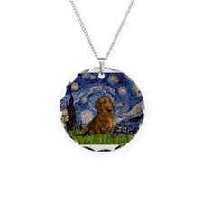 MP-Starry-Dachs-Brwn1.png Necklace Circle Charm