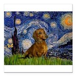 MP-Starry-Dachs-Brwn1.png Square Car Magnet 3