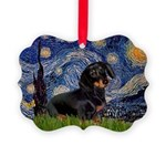 5.5x7.5Starry-Dachs16.png Picture Ornament