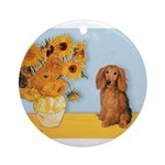 MP-SUNFLWRS-LHDAchs-Sable.png Ornament (Round)
