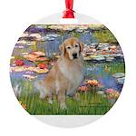 MP-Lilies-GoldBoomr.png Round Ornament