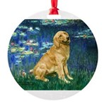 MP-LILIES5-Golden-Banjo-LT.png Round Ornament