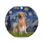 5.5x7.5-Starry-Golden8.png Ornament (Round)