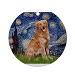 5.5x7.5-Starry-GoldBanj2.PNG Ornament (Round)