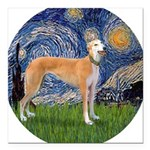 5.5x7.5-Starry-Greyt9.png Square Car Magnet 3