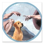 Creation/Labrador (Y) Square Car Magnet 3