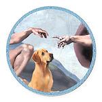 Creation/Labrador (Y) Round Car Magnet