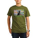 LILIES2-labblk1.png Organic Men's T-Shirt (dark)