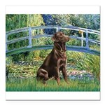 Bridge - Chocolate Lab 11.png Square Car Magnet 3