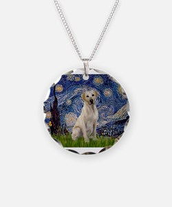 Starry Night Yellow Lab Necklace