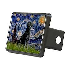 Starry-Black Labrador Hitch Cover