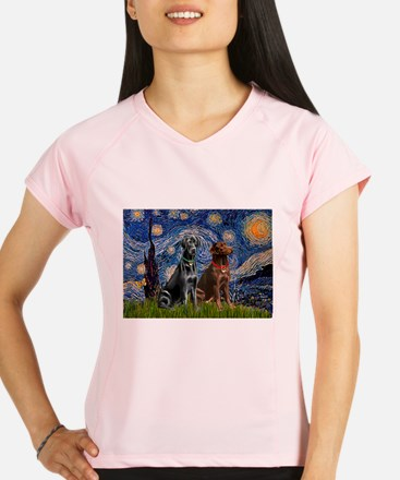 Starry Night - Two Labradors (Chocolate and.png Pe