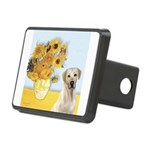 Sunflowers-YellowLab7.png Rectangular Hitch Cover