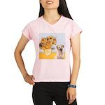 Sunflowers-YellowLab7.png Performance Dry T-Shirt