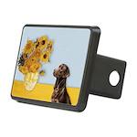 Sunflowers / Choc Lab 11 Rectangular Hitch Cover