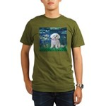 MP-LILIES5-Maltese-Rocky.png Organic Men's T-Shirt