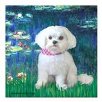 MP-LILIES5-Maltese-Rocky.png Square Car Magnet 3