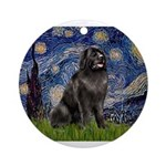 STARRY-Newfie-Blk2.png Ornament (Round)