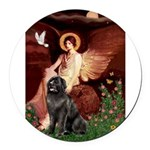 MP-ANGEL1-Newfie-Blk2.png Round Car Magnet
